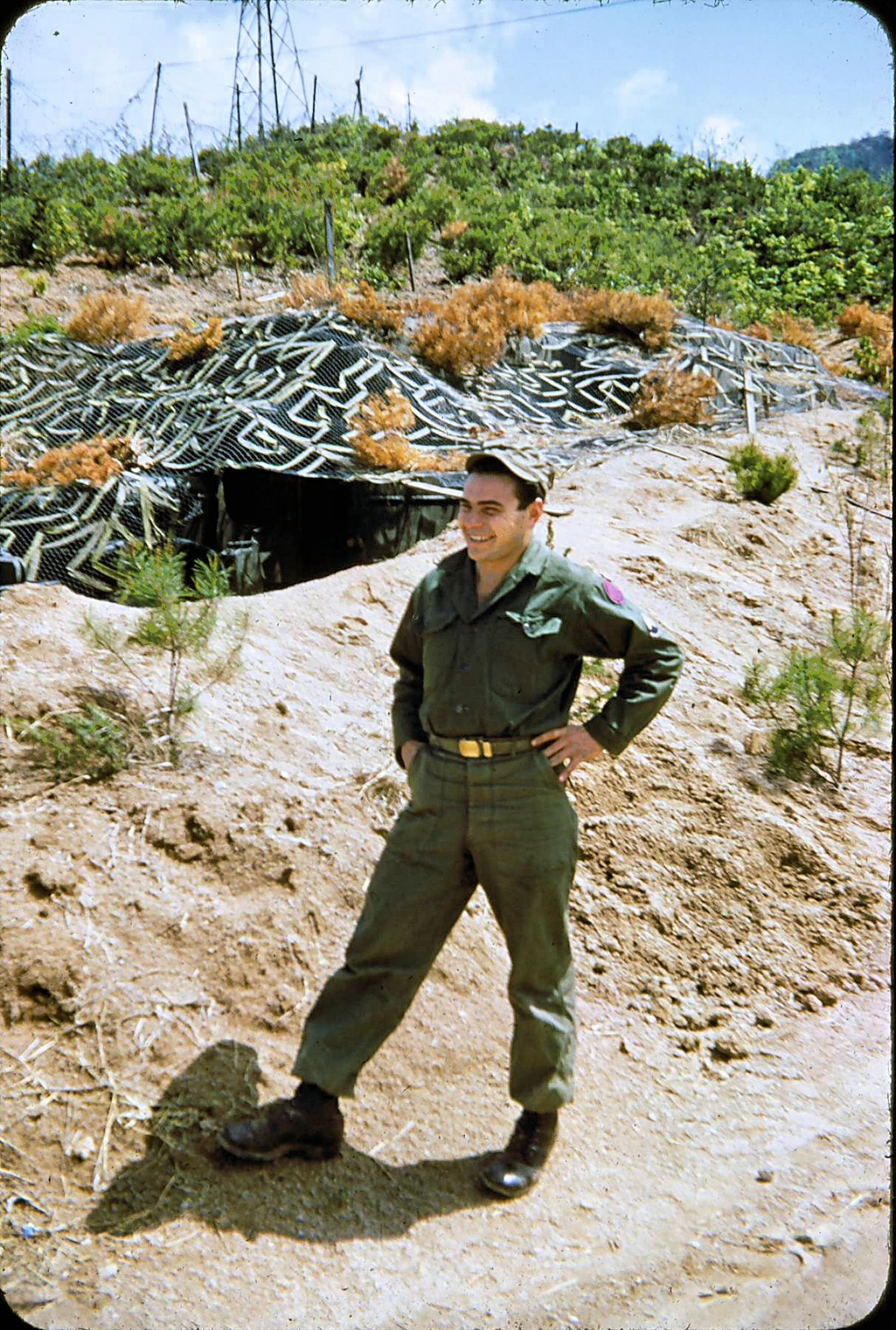 Grandpa in Korea - outside bunker